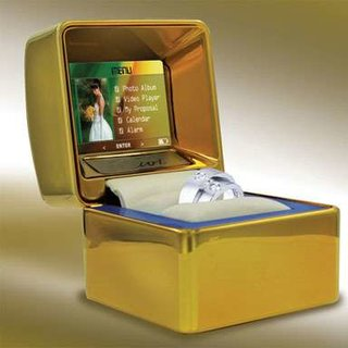 Ring gift box with built-in LCD screen