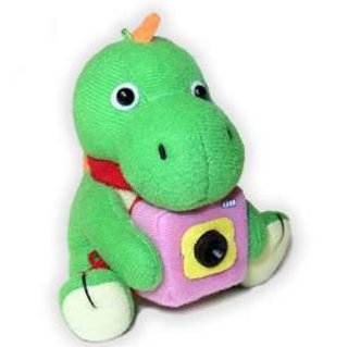 Dino-cam: Plush dinosaur webcam