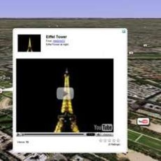 Watch YouTube videos in Google Earth