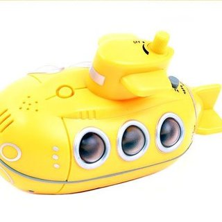 Floating waterproof yellow submarine radio