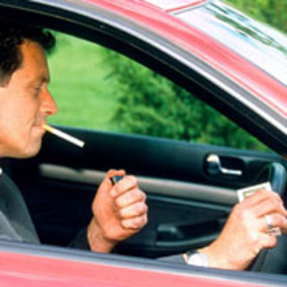 Driving and smoking law confusion