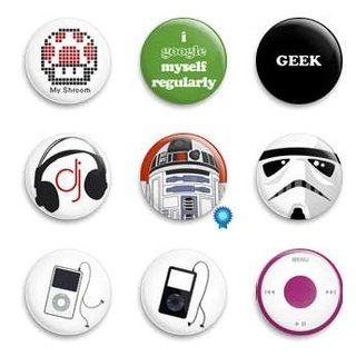 Prickie badge buttons for geeks