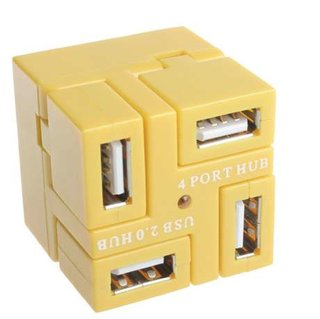 "Four port USB ""cubic"" hub from Brando"