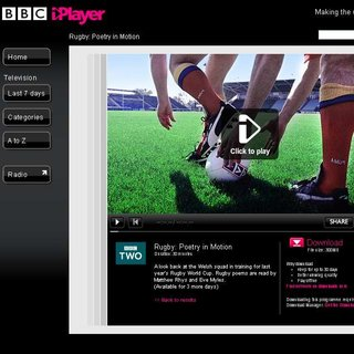 BBC iPlayer to show Six Nations rugby