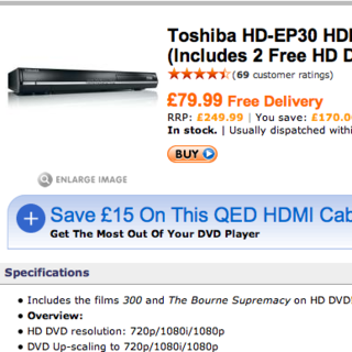 HD DVD player prices slashed