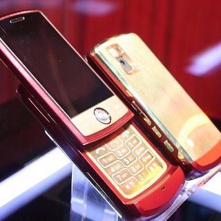 LG presents 18K. gold Iron Man mobile