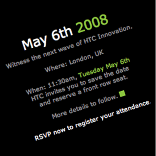 HTC to unveil Android handset in May?