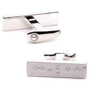Sterling silver Wiimote cufflinks available