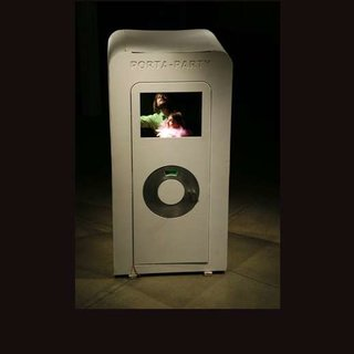 "Porta-Party ""inside an iPod"" concept"