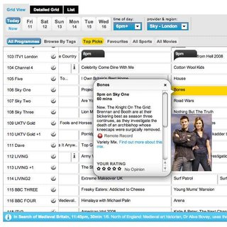"""Sky launches """"most advanced"""" online TV guide"""