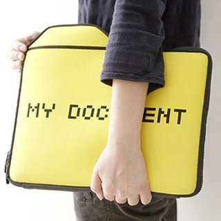 """My Document"" laptop case"