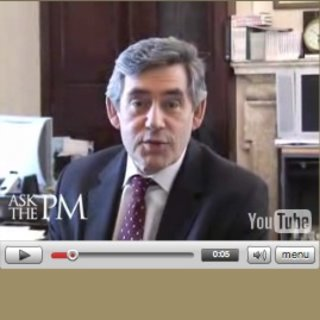 "Gordon Brown launches YouTube ""Ask the PM"" question time"