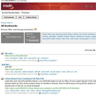 """Microsoft to launch """"Social Bookmarks"""" Digg rival"""