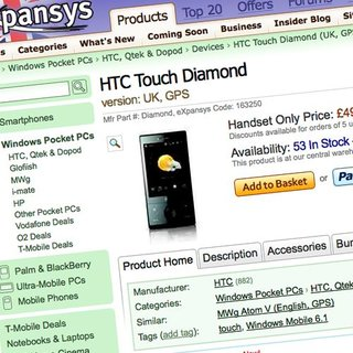 HTC Diamond on sale in UK