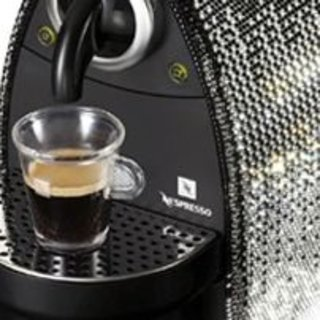 Nespresso's crystal coated coffee machine