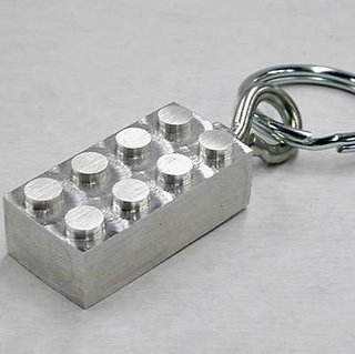Aluminium LEGO keyring launches