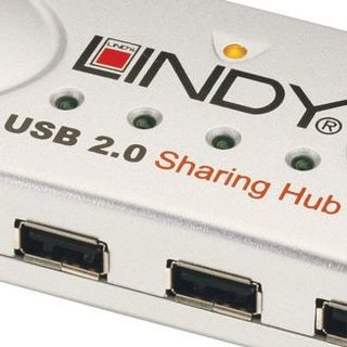 Lindy USB four-port sharing hub