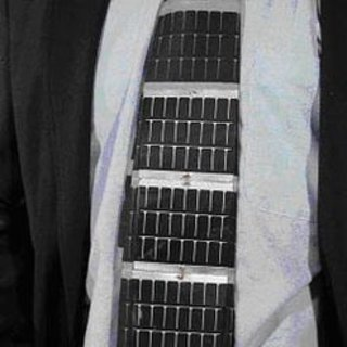 Solar powered tie
