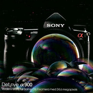 Advert reveals spec for Sony's A-900 DSLR