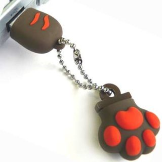 Cat paw-shaped flash drive launches