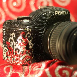 Pentax K-m DSLR gets blinged