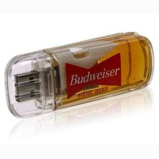 Beer-filled USB drive available