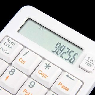 USB numeric keypad with calculator launches