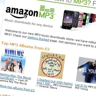 Amazon's MP3 store gets mysteriously quiet UK launch