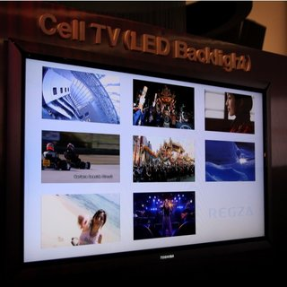 "Toshiba ""Cell"" television shown at CES"