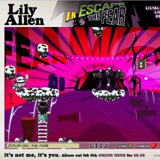 Lily Allen promotes new album with casual game