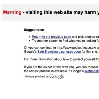 Google deems entire internet malware