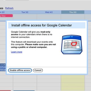 Googles Calendar goes offline