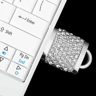 Brando offers crystal padlock USB flash drive