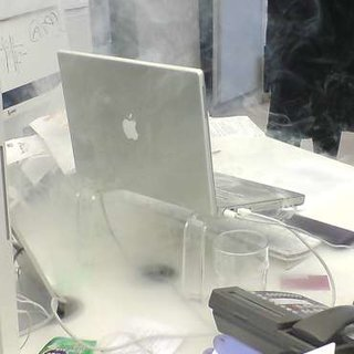 Apple PowerBook explodes