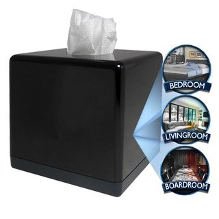 Tissue box with hidden camera launches
