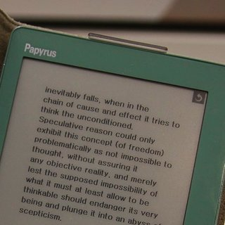 Samsung Papyrus: touchscreen ebook debuts