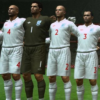 Brand new England kit debuts on PES 2009