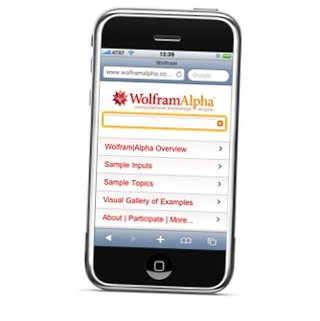"Wolfram Alpha offers ""iPhone mobile page"""
