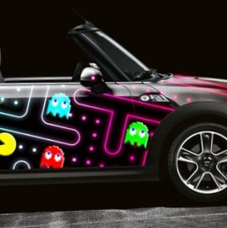 Mini Cooper gets a retro gaming make-over