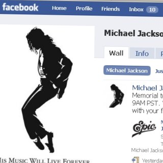 Michael Jackson becomes Facebook's most popular person