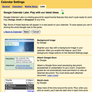 Google Calendar Labs launches