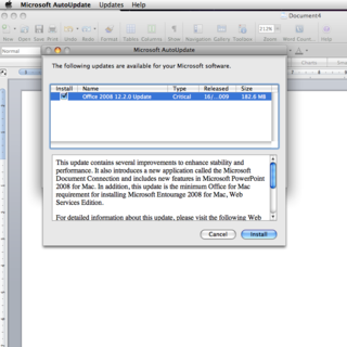 Microsoft Office 2008 for Mac SP2 released