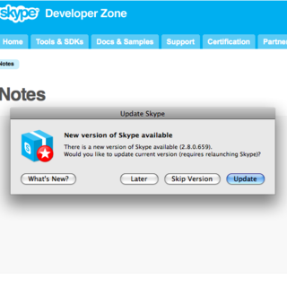 Skype 2.8 for Mac brings new features