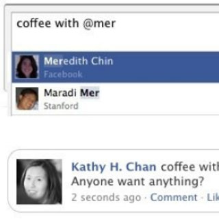 Facebook adds @ mentions in status updates
