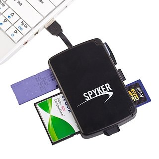 Multi-format card reader comes complete with storage slots