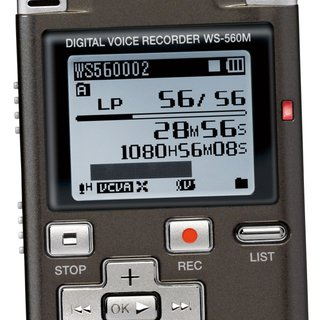 Olympus WS-560M digital voice recorder launches