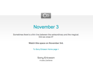 Sony Ericsson Rachael hitting 3 November