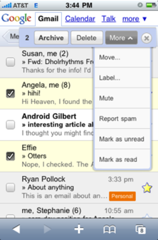 Gmail gets updated for iPhone and Android