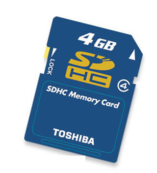 Toshiba announce bigger SDHC memory cards