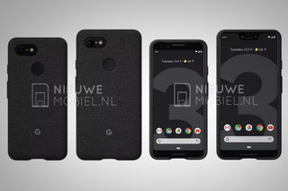 see google pixel 3 and pixel 3xl side by side in new leak